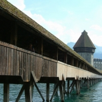 Wooden Bridge Lucerne
